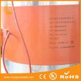 Chaufferette en plastique 55gl 1800W de baril en métal de biodiesel de pétrole de chaufferette de tambour de bande de silicones