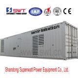 40 pés de 2250kVA 50Hz Containerized o jogo de gerador Diesel pelo MTU