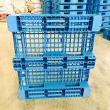 Pálete plástica reforçada do HDPE de /Durable da face aço dobro