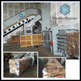 Automático horizontal para a prensa do papel Waste com transporte