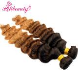 Armure foncée malaisienne d'Ombre de cheveux humains de fond