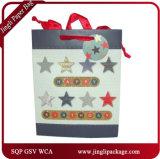 쇼핑 종이 봉지 선물 종이 봉지 공단 리본을%s 가진 주문 선물 부대