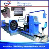 Cnc-Stahlrohr-Profil-Plasma-Ausschnitt-abschrägenmaschine für runde Rohre und quadratisches /Rectangular-Gefäß Kr-Xf8