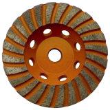 Чашки корунда хромия качества минимальной цены колесо диаманта высшей меля