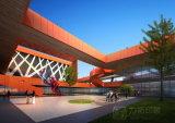 Здание образования представляя конструкцию художнического зодчества чудесную