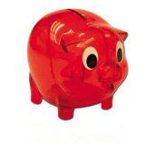 Caixa de dinheiro plástica da economia do projeto do porco para a promoção
