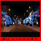 Luz de poste al aire libre comercial de la decoración de la calle del adorno de la Navidad del LED