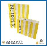 Gelber Streifen gedruckte PapierEinkaufstasche