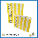 Raya amarilla bolsa de papel impreso