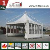 Crête élevée de tentes de Gezabo de qualité avec des flancs de guichet de PVC