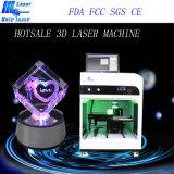 Máquina de gravura Hsgp-2kc do laser 3D de cristal do presente do Natal 2D