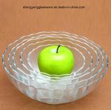 5 PC 장식적인 유리제 사라다 그릇 과일 유리 그릇