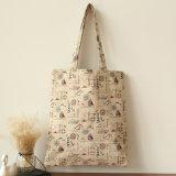 Saco de compra não tecido de papel do punho da lona do algodão do couro do saco de compra do presente (X023)
