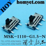 Tipo vertical 6pin SMD Slide Switch para productos digitales (MSK-1110-G15-N)