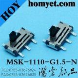 デジタル製品(MSK-1110-G15-N)のための縦のタイプ6pin SMDのスライドスイッチ