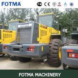 Shantui SL60W 6トンのログクランプ車輪のローダー