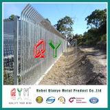 Clôture en acier de garantie de palissade de Galvanzied de section de la qualité W