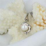 イルカの形の自然な淡水の実質の真珠のペンダント