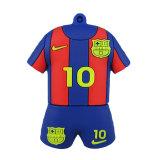 PVC instantâneo da vara da memória do número da movimentação 32GB Barcelona Messi Barcelona 10 da pena do USB