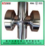 Vidro de vista sanitário higiênico da cruz do produto comestível de aço inoxidável para para a indústria do encanamento