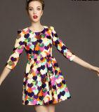 Les longues filles robe, femmes de mode d'impression de douille vêtx (CS-D2098)