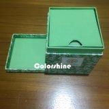 Rectángulo de regalo cuadrado del embalaje del papel de la vela de la alta calidad con la tarjeta gris