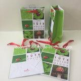 Изготовленный на заказ красная фольга штемпелюя мешок подарка бумаги печатание логоса