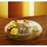Plaque paresseuse de gâteau de Susan en verre Tempered de cuisine