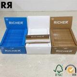 Un papier 100% de roulement plus riche de tabac de cigarette de chanvre de GV 14GSM de FSC avec des extrémités de filtre