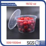 Envase de alimento plástico reciclable disponible cualquie dimensión de una variable