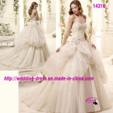 V 네클라인 뒤를 가진 Sweetheart Gowns Dress Wedding 아름다운 공주