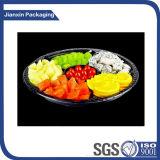 Bandeja plástica descartável do petisco da fruta do alimento de 6 compartimentos