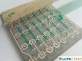 ゴム製キーパッドによって上にあられるタクタイル金属は半球形に作る膜スイッチ(MIC0873)を