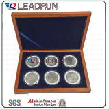 Abzeichen-Ansammlungs-Fall-Medaillen-Geschenk-Andenken-Gedenkmünzkassette EVA-Einlage-Satz-Kasten (D10)