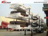 65ton容器輸送のターミナルヤードシャーシのトレーラー