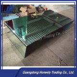 Od013m 미러 완료 장방형 강화 유리 테이블