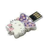 Mini USB Pendrive dos desenhos animados do metal do flash da memória do USB do metal