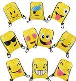 Sacs mignons de sac à dos de cordon de dessin animé d'Emoji