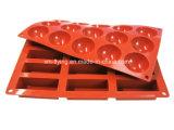 Nahrungsmittelgrad-Firmenzeichen gravierte 12 Kammer-Silikon-Schokoladen-Formen, Silikon-Eis-Tellersegmente