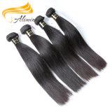 Vente en gros brésilienne noire normale de cheveu droit de cheveux humains