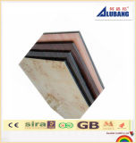 el panel compuesto de aluminio de plata Shinning de la capa de 4m m 0.5m m PVDF