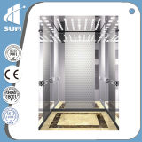 Passageiro Elevator de Golden Color Etching Mirror Stainless