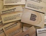 Carte en bois de nom d'entreprise d'IDENTIFICATION RF de MIFARE S70