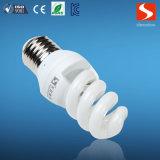 Lampada economizzatrice d'energia piena di spirale 9W, lampadine compatte della lampada fluorescente CFL