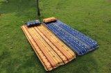 Couverture gonflable campante extérieure de couvre-tapis de plage de sommeil d'air de bâti de matelas de plage de couvre-tapis de pique-nique de couverture de garniture d'individu respectueux de l'environnement simple de double
