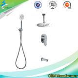 Douche de fléau de salle de bains de douche d'acier inoxydable réglée dans Sanitaryware