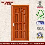 Porta de madeira do MDF do interior feito sob encomenda do preço do competidor (XS6-018)