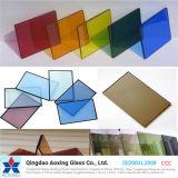 стекло 4-12mm цветастое/ясное Toughened отражательное с сертификатом Ce