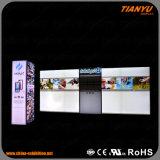 Cabine faite sur commande d'exposition de mur de la vente chaude DEL