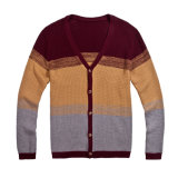 100%Cotton Spring V-Neck Knit Men Cardigan Sweater avec Button
